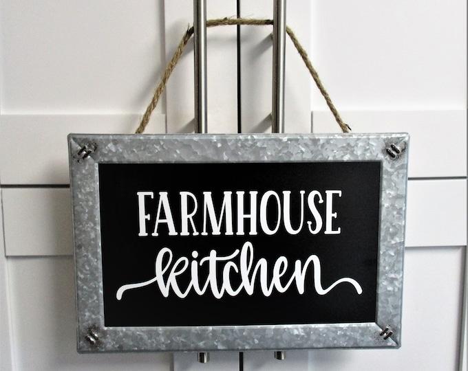 Farmhouse Kitchen Wall Sign Decor, Chalkboard Galvanized Sign, Farmhouse Decor, Country Kitchen, Country Decor