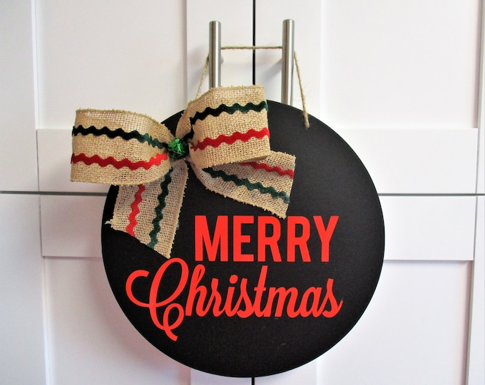 Merry Christmas Chalkboard Sign, Red Merry Christmas, Christmas Decor, Home Decor, Country Christmas