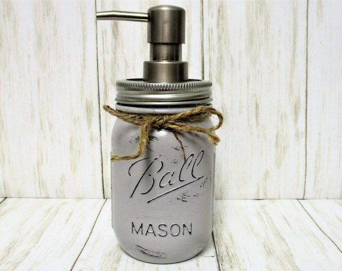 Mason Jar Soap Dispenser, Mason Jar Lotion Dispenser, Bathroom Decor, Kitchen Decor, Rustic Decor, Farmhouse Decor