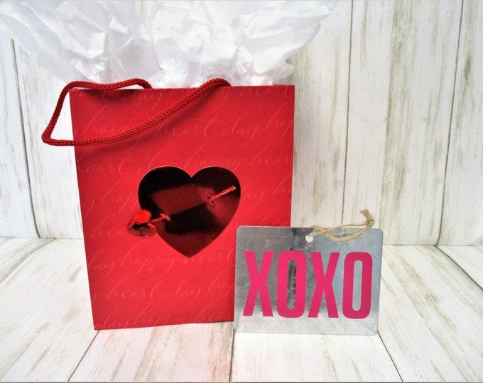 Galvanized Valentines Day Ornament, XOXO Love Ornament, Valentines Day Gift, Valentines Day Decor