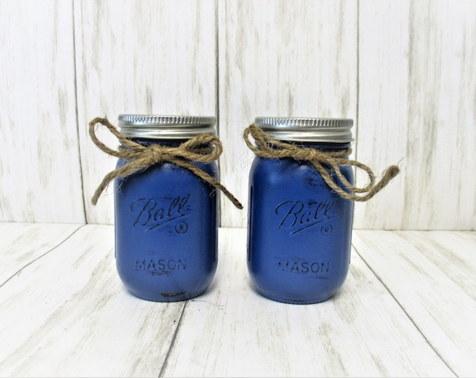 Mason Jar Salt and Pepper Shakers, Kitchen Decor, Rustic Decor, Housewarming Gift, Wedding Gift, Home Decor, Country Salt and Pepper