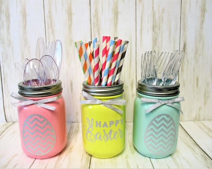 Easter Mason Jar Decoration Centerpiece, Party Decorations, Mason Jar Decor