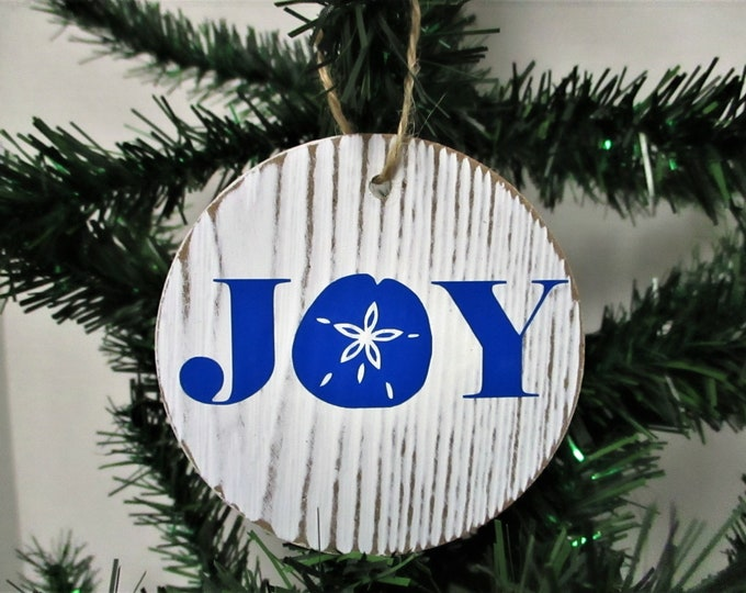 Beach Joy Starfish Christmas Ornament, Beach Christmas Ornament, Beach Decor, Christmas Decor, Beach House Decor