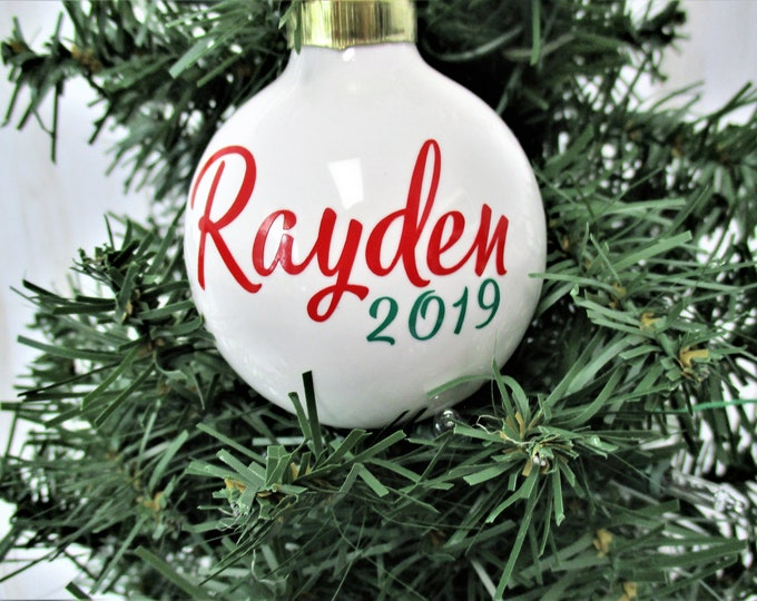 Personalized Christmas Ornament, Ceramic Christmas Ornament, Christmas 2019, Christmas Tree Decor, Gift, Christmas Decor