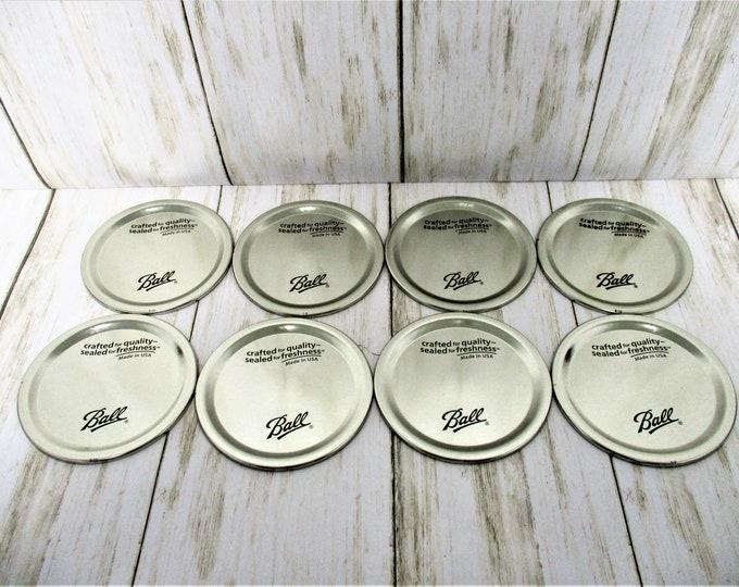 Mason Jar Lids, Silver Mason Jar Lids, Canning Lids, Wide Mouth Mason Jar Lids, Ball Jar Lids