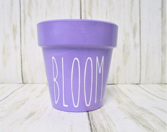 Mini Bloom Lavender Flower Pot, Bloom Garden Planter Pot, Home Decor, Succulent Planter, Window Sill Pot