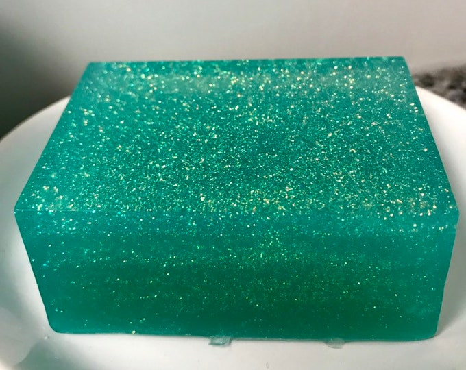 Mermaid Glitter Soap, Mermaid Ombre Soap, Bath and Body, Soap Gift, Mermaid Soap
