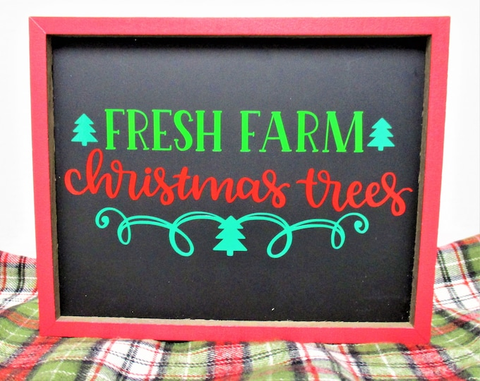 Christmas Tree Sign Decor, Fresh Farm Christmas Tree, Christmas Signs, Country Christmas Decor, Chalk Board Sign, Farmhouse Christmas