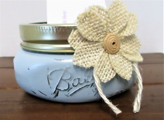 Business Card Holder, Mason Jar Decor, Lipstick Holder, Desk Decor, Paperclip Holder, Bathroom Decor, Gift for Her, Hair Tie Holder