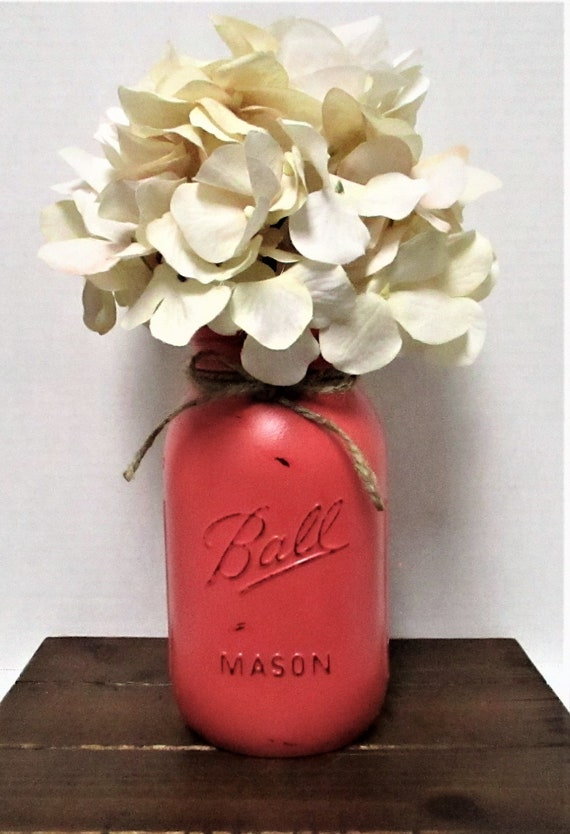 Mason Jar Flower Arrangement, Centerpiece, Flower Arrangements, Country Chic,  Farmhouse Centerpiece, Wedding Decor, Mothers Day Gift