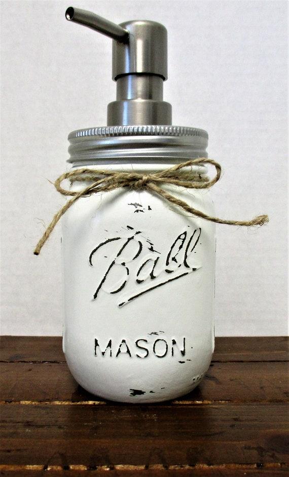 Mason Jar Soap Dispenser, Bathroom Decor, Kitchen Decor, Rustic Decor, Farmhouse Decor, Country Kitchen