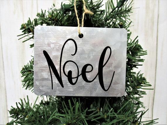 Noel Christmas Ornament, Galvanized Christmas Ornament, Country Christmas Ornament, Farmhouse Christmas Ornament, Rustic Christmas