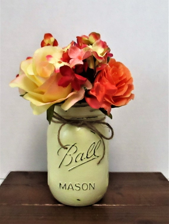 Mason Jar Centerpiece, Shabby Chic Decor, Wedding Decor, Home Decor, Rustic Decor, Farmhouse Decor, Baby Shower, Gift for Her