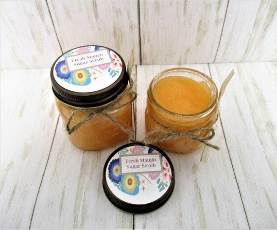 Fresh Mango Sugar Scrub, Body Scrub, Sugar Scrub, Exfoliating Scrub, Bridal Shower Favor, Bridesmaid Gift, Spa Product, Baby Shower