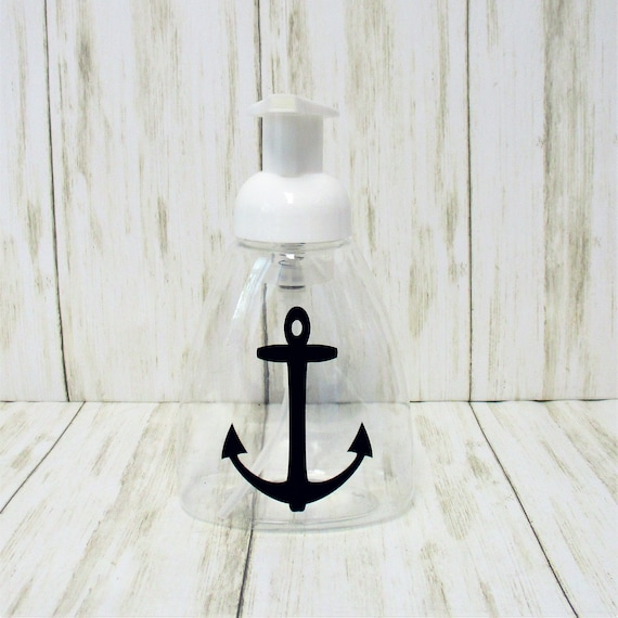 Anchor Foam Soap Dispenser, Clear Plastic Soap Dispenser, Kitchen Bathroom Decor