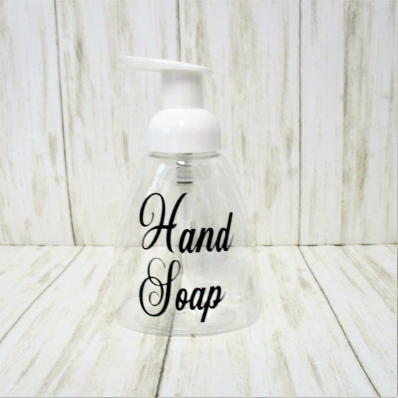 Hand Soap Foam Soap Dispenser, Clear Plastic Soap Dispenser, Kitchen Bathroom Decor