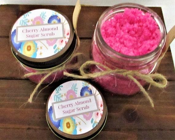 Cherry Almond Sugar Scrub / Body Scrub / Sugar Scrub / Exfoliating Scrub / Bridal Shower Favor / Bridesmaid Gift / Spa Product / Baby Shower