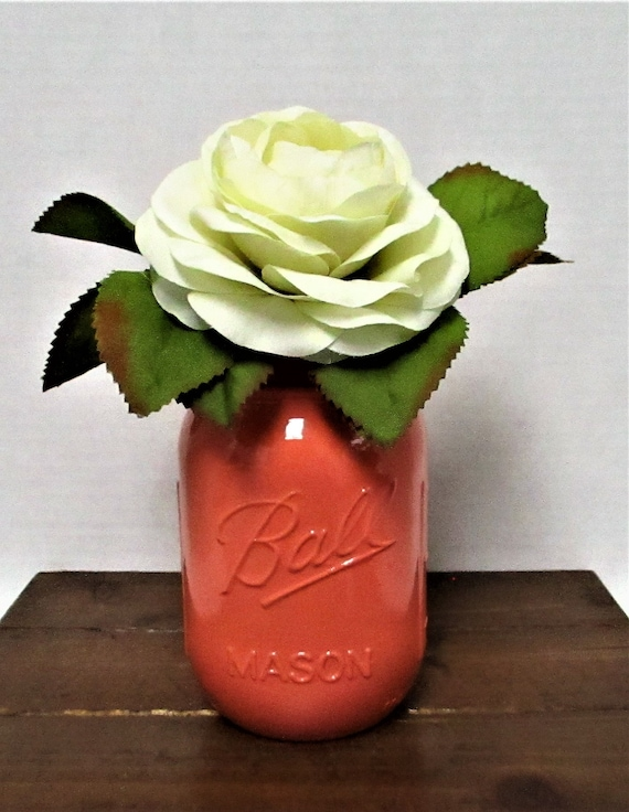 Mason Jar Centerpiece, Shabby Chic Decor, Wedding Decor, Home Decor, Rustic Decor, Farmhouse Decor, Flower Arrangement, Mason Jar Decor