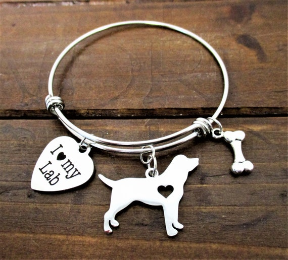 Laborador Retriever Dog Charm Bracelet, Dog Charm Bracelet, I love my Lab, Dog Jewelry, Dog Mom Gift, Mothers Day Gift