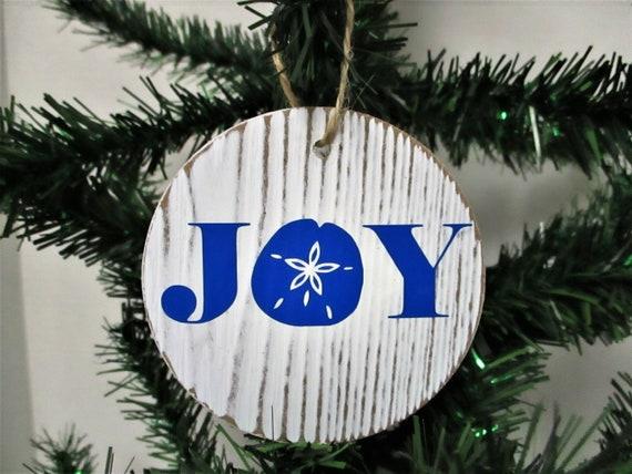 Joy Starfish Christmas Ornament, Beach Christmas Ornament, Beach Decor, Christmas Decor