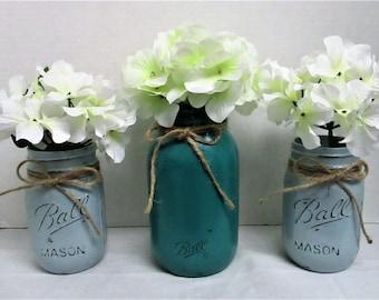 Mason Jar / Rustic Decor / Farmhouse Decor / Country Chic / Mason Jar Centerpieces / Baby Shower Decor / Wedding Decor / Home Decor / Gifts