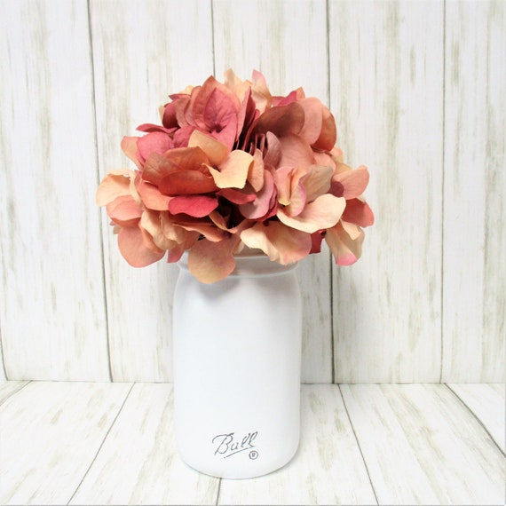 Mason Jar Centerpiece, Farmhouse Decor, Hydrangea Decor, Country Decor, Country Chic Decor, Shabby Chic Decor, Flower Arrangement, Gift