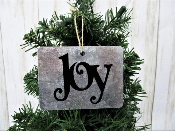 Joy Christmas Ornament, Galvanized Christmas Ornament, Christmas Ornament, Farmhouse Christmas Ornament, Country Christmas, Rustic