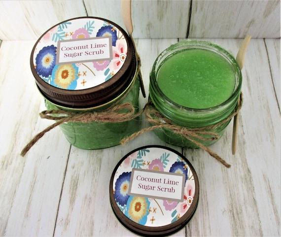 Coconut Lime Sugar Scrub, Body Scrub, Sugar Scrub, Exfoliating Scrub, Bridal Shower Favor, Bridesmaid Gift, Spa Product, Baby Shower