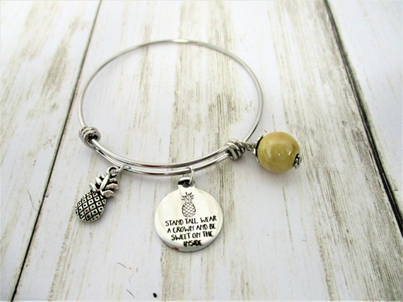 Pineapple Charm Bracelet, Pineapple Charm, Pineapple Jewelry, Tropical Jewelry, Gift For Her, Christmas Gift