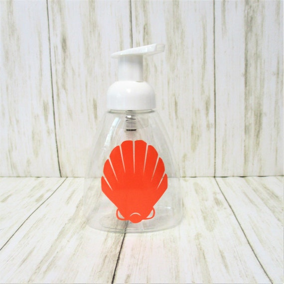 Seashell Foam Soap Dispenser, Clear Plastic Soap Dispenser, Kitchen Bathroom Décor
