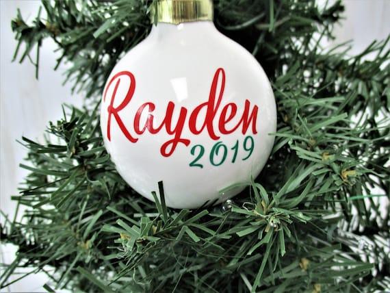 Personalized  Ceramic Christmas Ornament,  Christmas 2019, Christmas Tree Decor, Gift, Christmas Decor. Gift