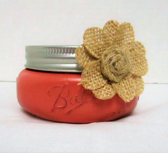 Business Card Holder, Mason Jar Decor, Desk Decor, Shabby Chic Decor, Lipstick Holder, Desk Accessory, Vanity Decor, Bathroom Decor