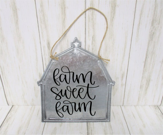 Farm Sweet Farm Wall Sign Décor, Barn Sign, Farmhouse Décor, Country Kitchen, Country Décor