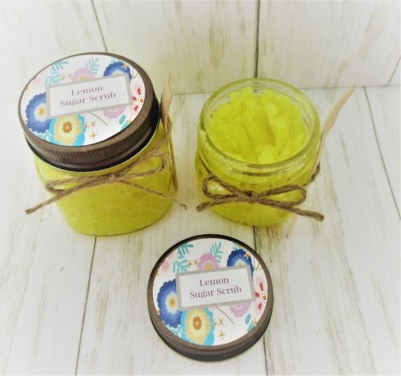 Lemon Sugar Scrub, Body Scrub, Sugar Scrub, Exfoliating Scrub, Bridal Shower Favor, Bridesmaid Gift, Spa Product, Baby Shower
