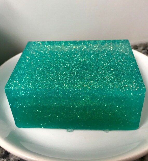 Mermaid Glitter Soap, Mermaid Ombre Soap, Bath and Body, Soap Gift, Mermaid Soap