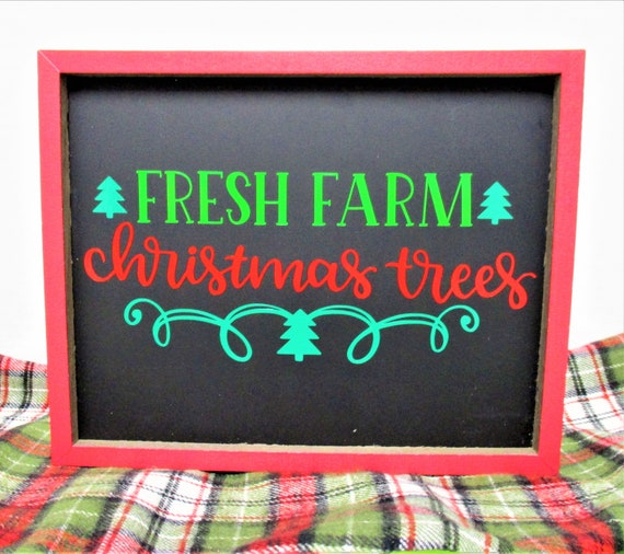 Christmas Tree Sign, Fresh Farm Christmas Tree, Christmas Signs, Country Christmas Decor, Chalk Board Sign, Farmhouse Decor