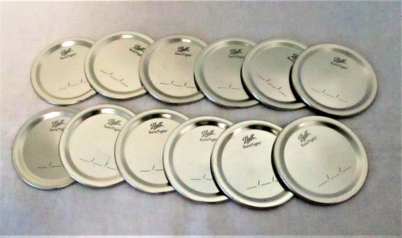 Mason Jar Lids, Silver Mason Jar Lids, Canning Lids, Regular Mouth Mason Jar Lids, Ball Jar Lids