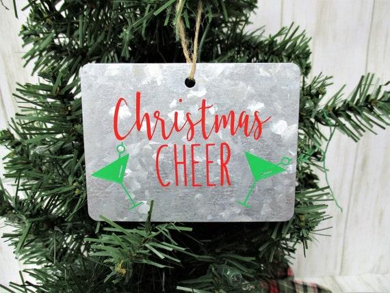 Christmas Ornament, Christmas Cheer Ornament, Galvanized Christmas Ornament, Country Christmas Ornament, Farmhouse Christmas