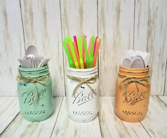 Mason Jar Decor, Party Decorations, Centerpiece, Baby Shower Decor, Wedding Decor, Bridal Shower Decor, Centerpiece, Pastel Mason Jars