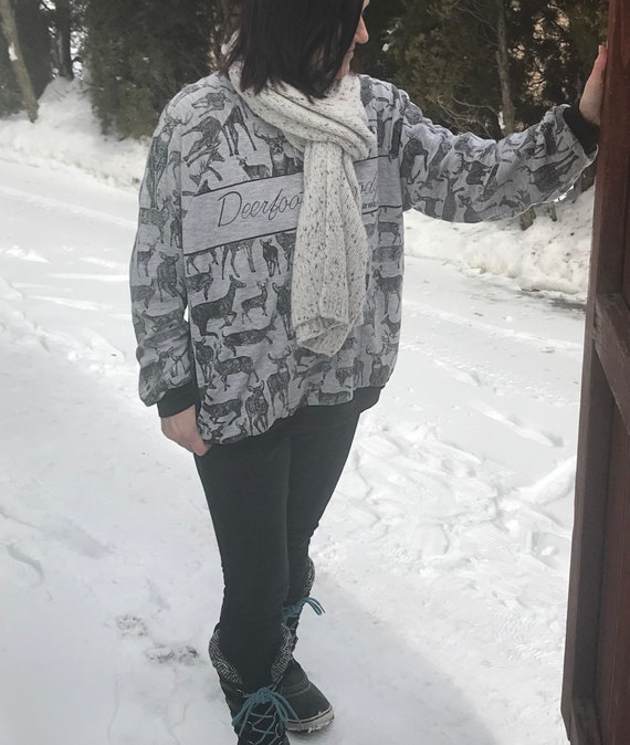 Vintage Thrift Sweatshirt Campy Deer