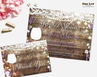 Wine Bridal Shower Invitations