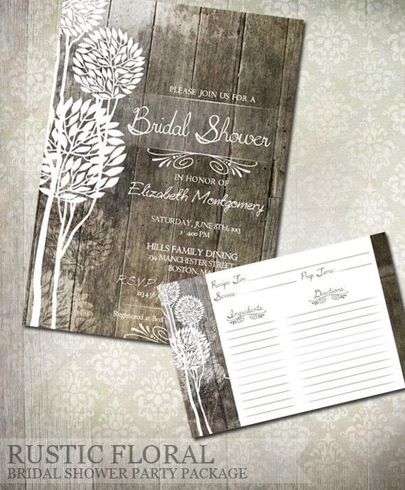DIY Digital Download Lace Recipe Card Printable