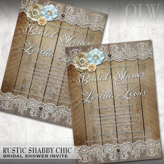 3c3834162dba Rustic Bridal Shower Invitation Country Chic Bridal Shower Invitation Floral  and Lace Bridal Shower Invite