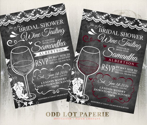 Wine tasting bridal shower invite chalkboard bridal shower etsy image 0 filmwisefo