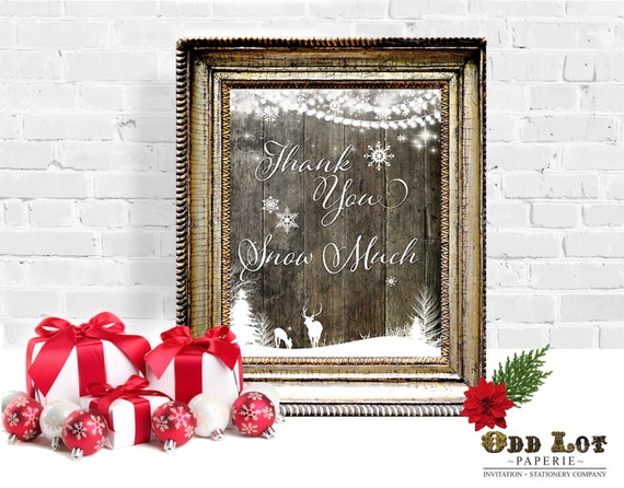 Christmas Grinch Quote 8 X 10 Digital Print Instant By: Printable Sign Thank You Snow Much 8x10 Poster Holiday