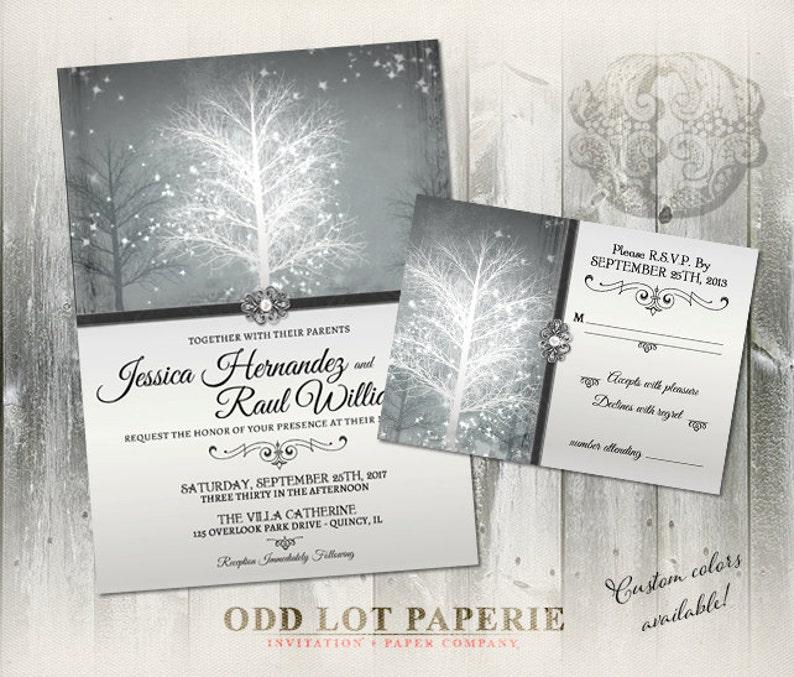 Winter Wonderland Wedding Invitation Suite Digital Printable Etsy