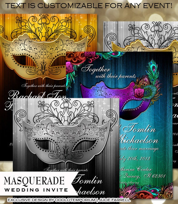Masquerade Ball Wedding Ideas: Masquerade Invitation Printable Masquerade Party