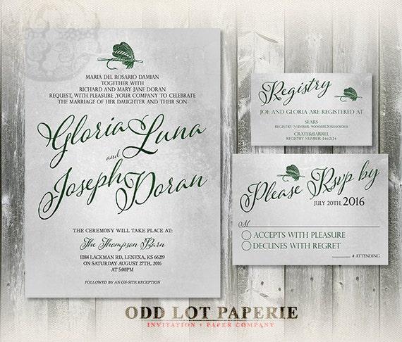 Fishing Printable wedding invitation and RSVP, Fishing Lure