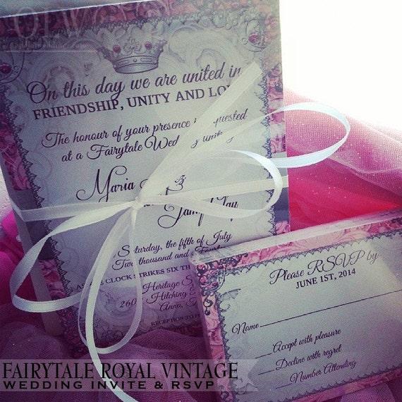 Fairytale Princess Wedding Invitation And RSVP