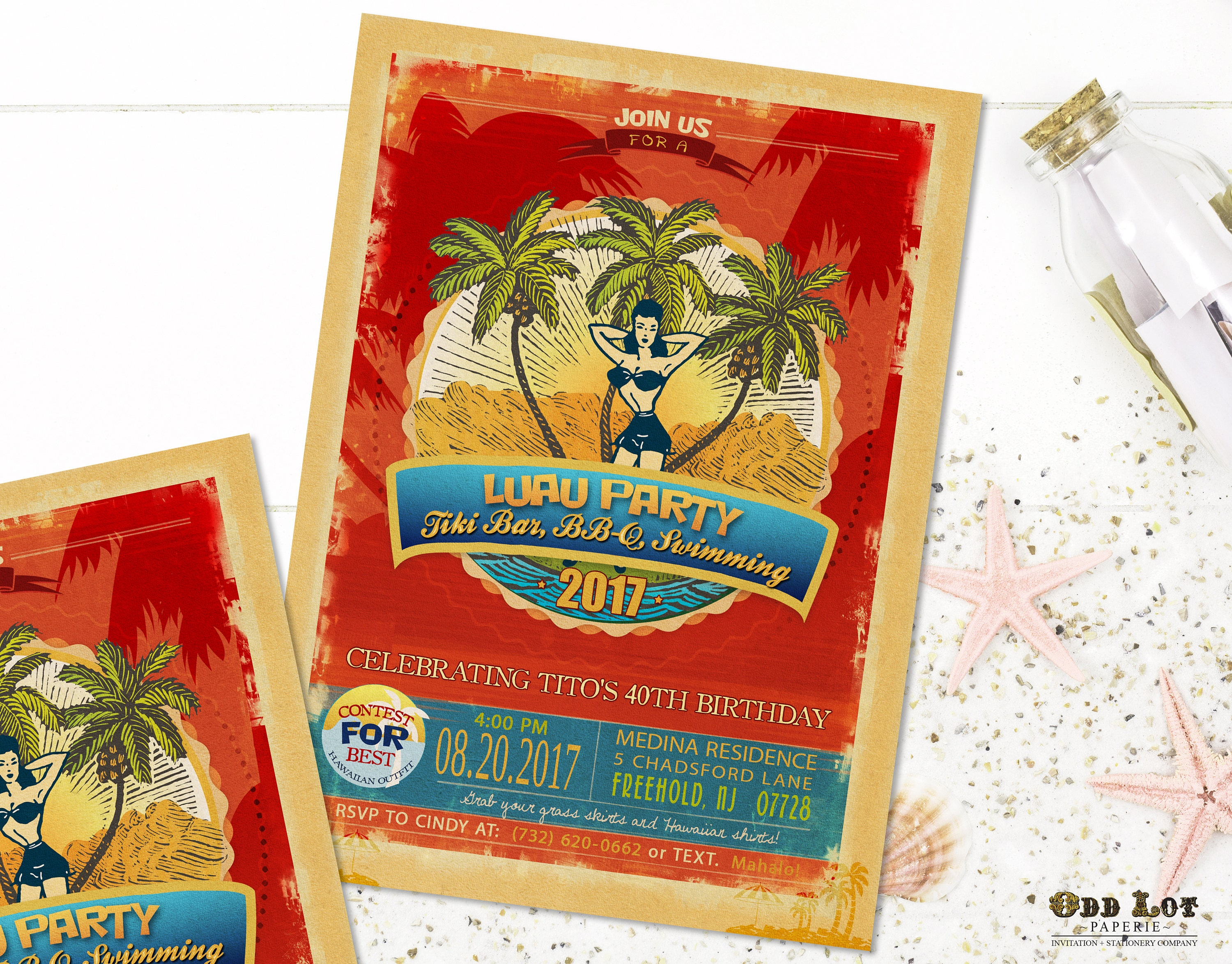 4c4b97e0d Summer Fun Invitations Template Beach Party Pool Party | Etsy